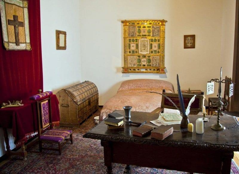 Recreación del supuesto dormitorio de Cervantes