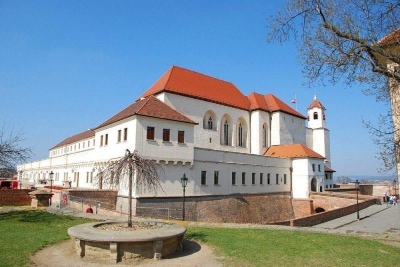 El Castillo Špilberk está en la cima de la colina de Brno