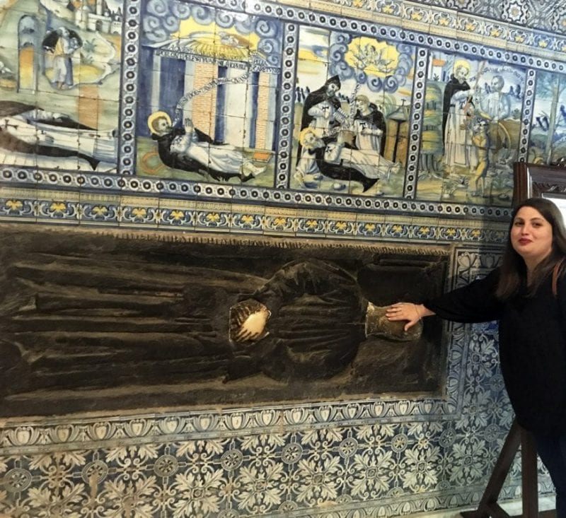 Escultura del santo que busca marido a las chicas en Talavera de la Reina en Toledo
