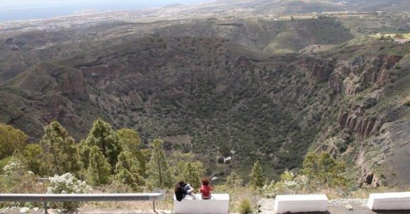 El cráter de Bandama tiene 800 metros de diámetro
