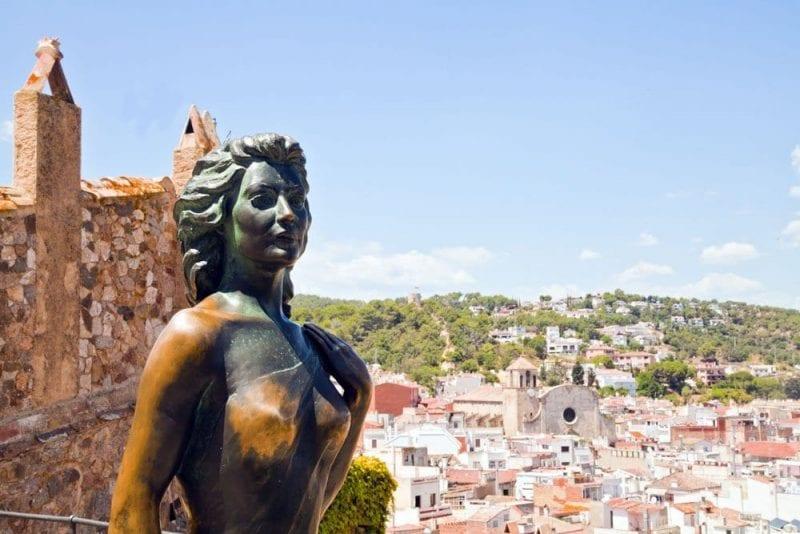 Escultura de Ava Gadner en Tossa del Mar