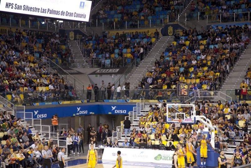 Partido de baloncesto en Las Palmas de Gran Canaria