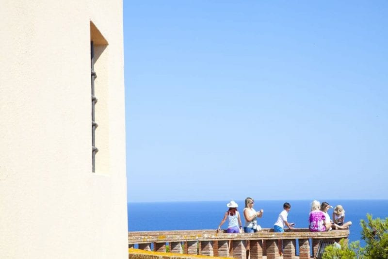 Balcón al mar en la capilla de San Elmo