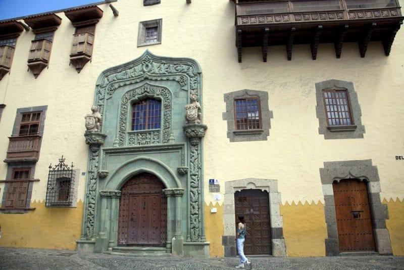 Fachada de la casa Museo de Colón en Las Palmas