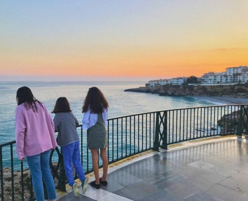 Balcón de Europa en Nerja al atardecer