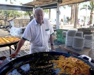 La paella de Ayo es famosa en Nerja