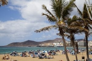 Vista de la playa de Las Canteras