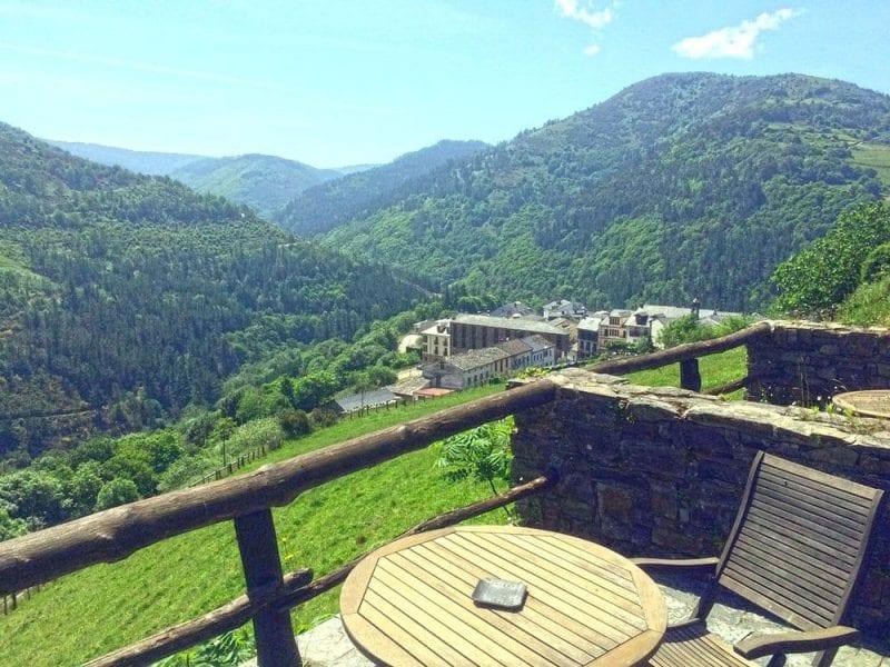 Vistas desde la terraza de la Rectoral de Taramundi
