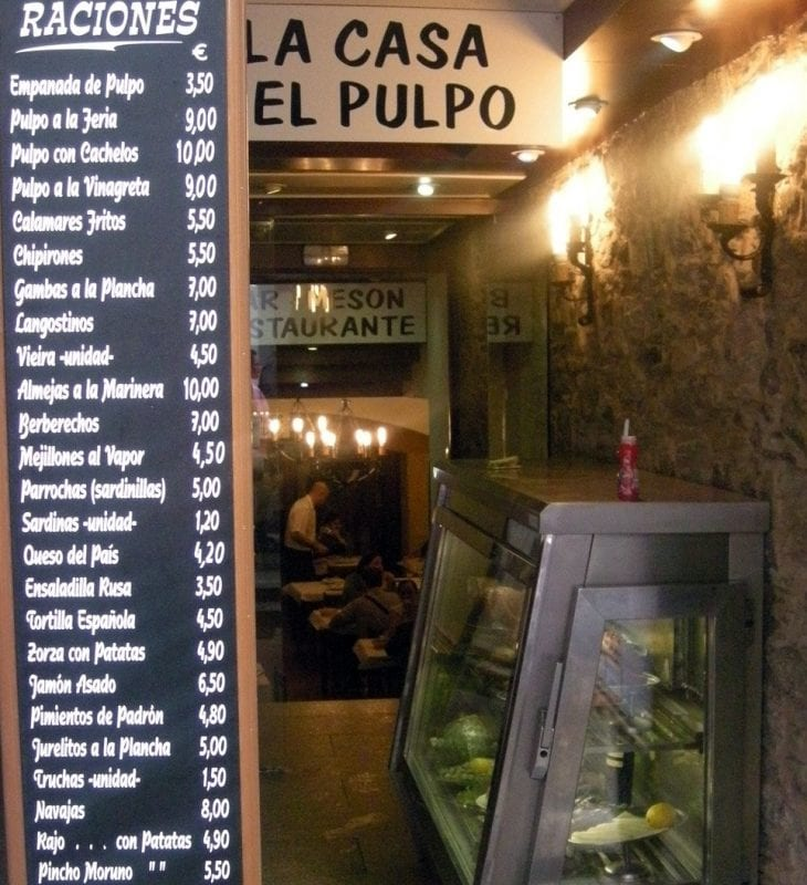 En Galicia, el pulpo es un clásico en todos los restaurantes