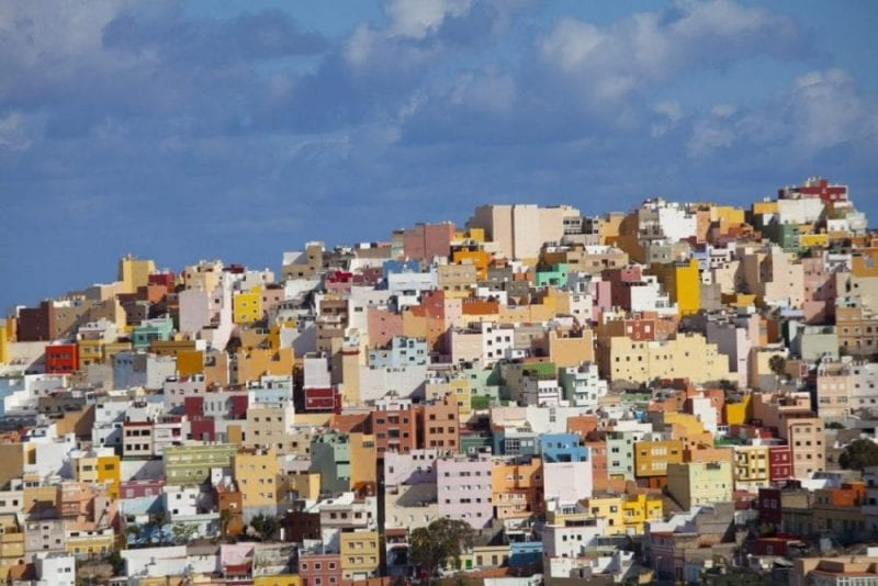 Vista del Risco, barrio colorista de Las Palmas de Gran Canaria