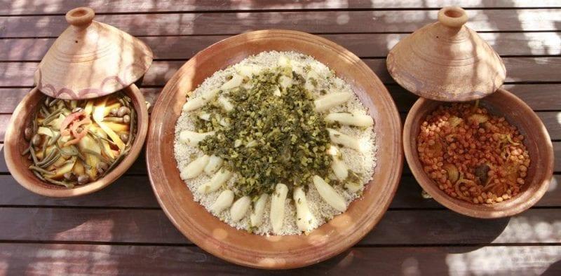 El cuscús, plato típico de Marruecos