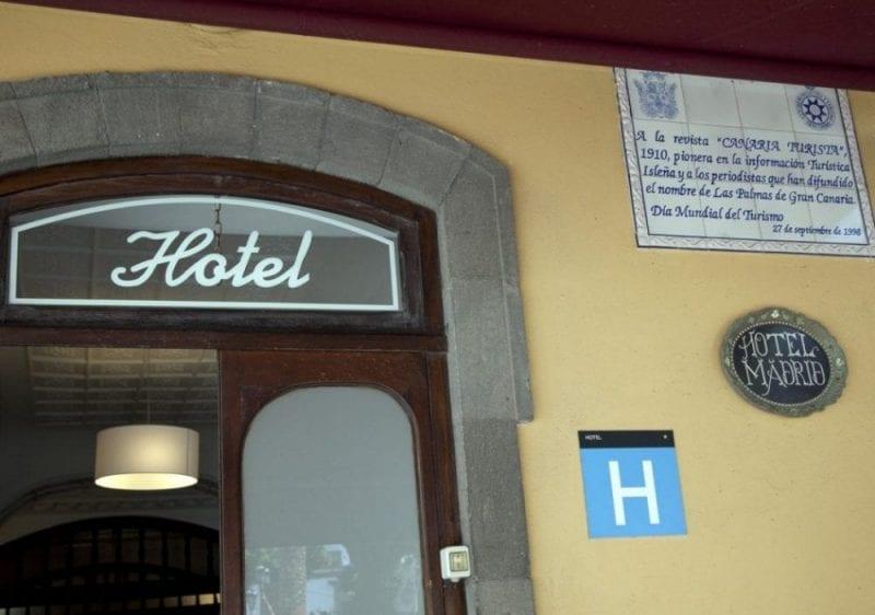 Fachada del Hotel Madrid