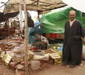 Mercado en el pueblo bereber de Tahanaounate, en el Atlas