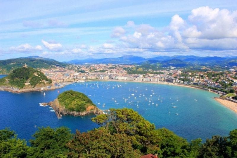 La bahía de San Sebastián, una de las más bellas del mundo