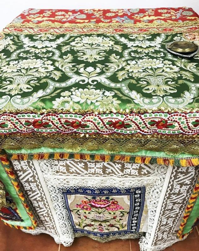 Detalle de un altar de Corpus de Lagartera