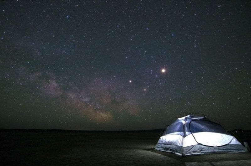Dormir contemplando las estrellas, buena experiencia