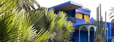 El azul es el color de los jardines de Majorelle