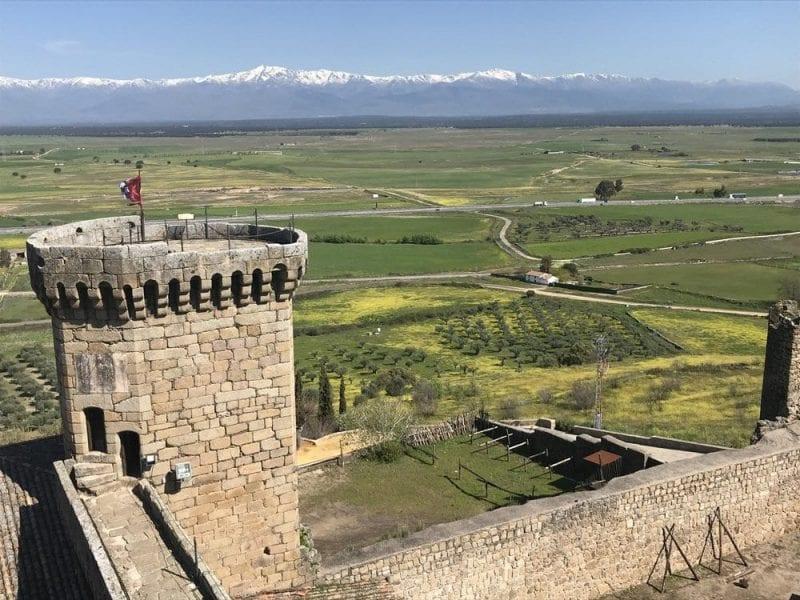 Panorámica de Gredos desde el castillo
