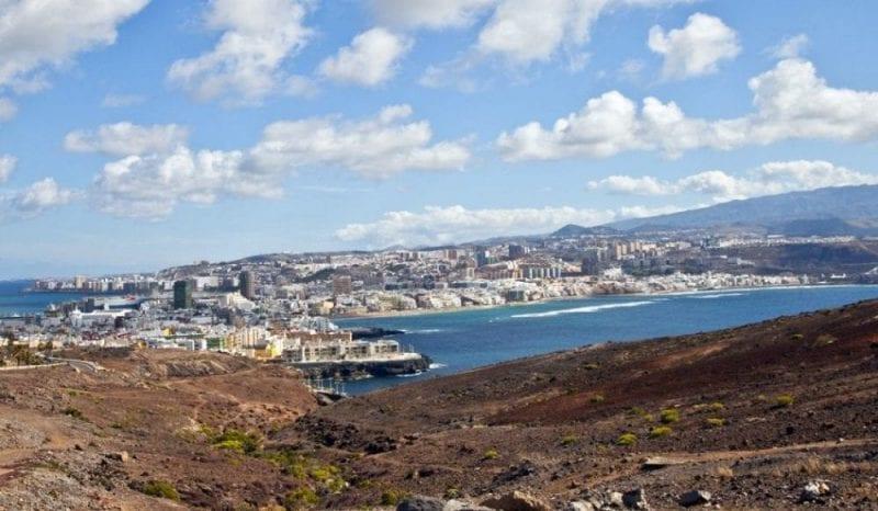 Vista de Las Palmas de Gran Canaria desde El Confital