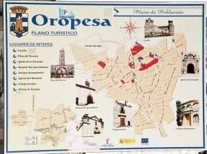 Plano de Oropesa de Toledo