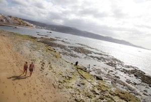 La playa de Las canteras, ideal para el paseo