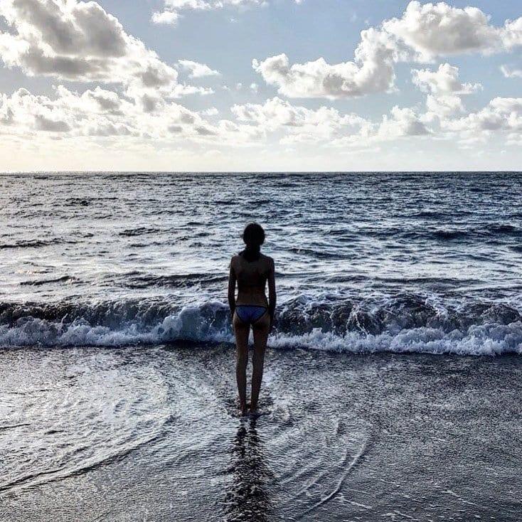 El agua del atlántico, perfecta para el baño