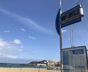 La temperatura media de Las Palmas ronda los 22 grados