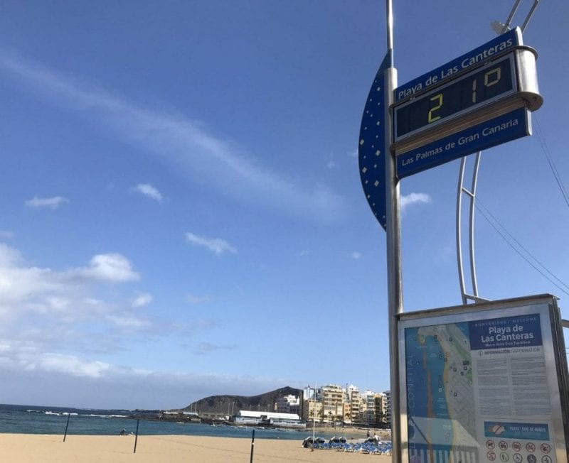 Una playa con sol y libre de humos