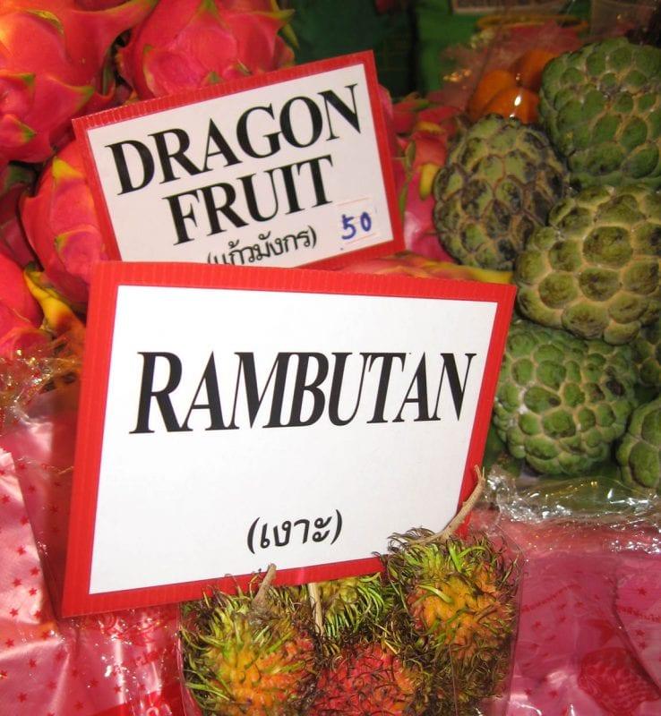 En Tailandia hay mucha variedad de frutas exóticas