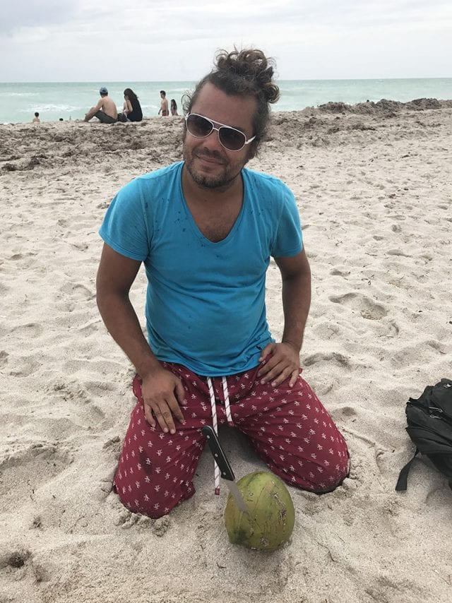 Vendedor de cocos en South Beach
