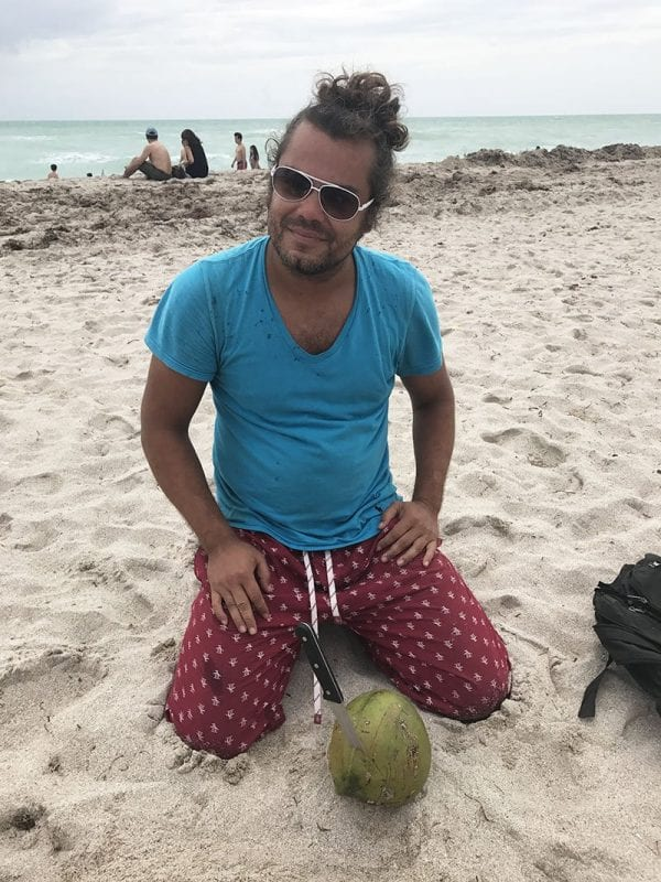 Vendedor de cocos en South Beach