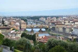 Vista panorámica del puente Vecchio