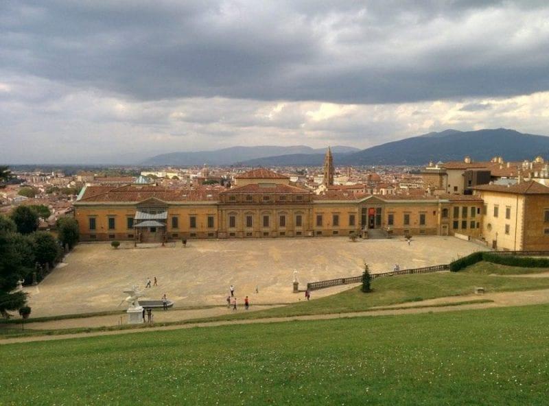 Vistas del palacio Pitti de Florencia