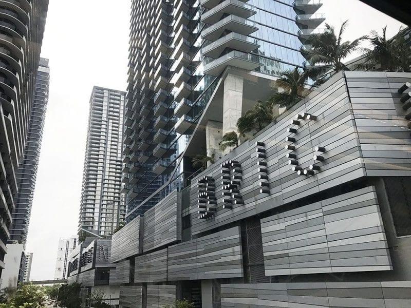 Detalle del distrito financiero de Miami
