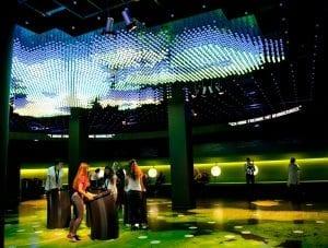 Zona de juegos interactivos en el Parlamentarium
