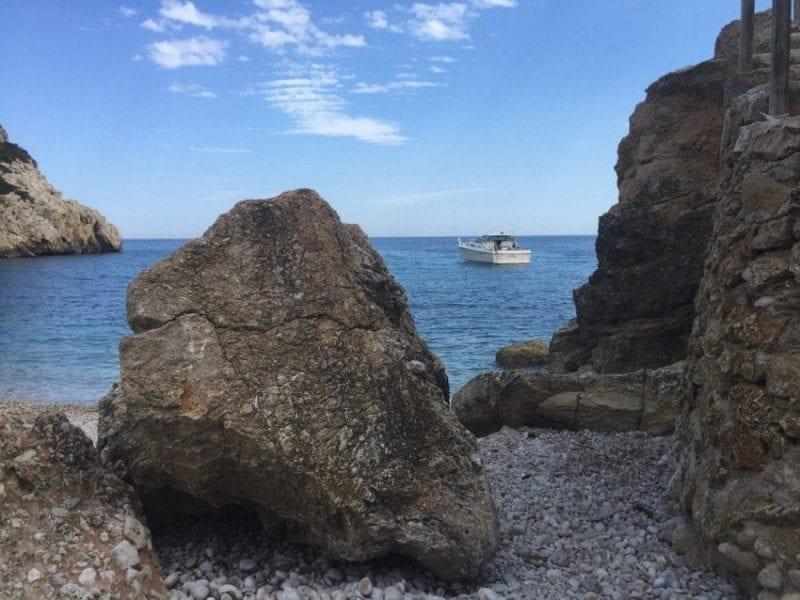 Estampa de la costa de Javea, Alicante