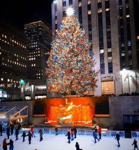 El árbol de Navidad del Rockefeller y su pista de patinaje, más iconos de Nueva York