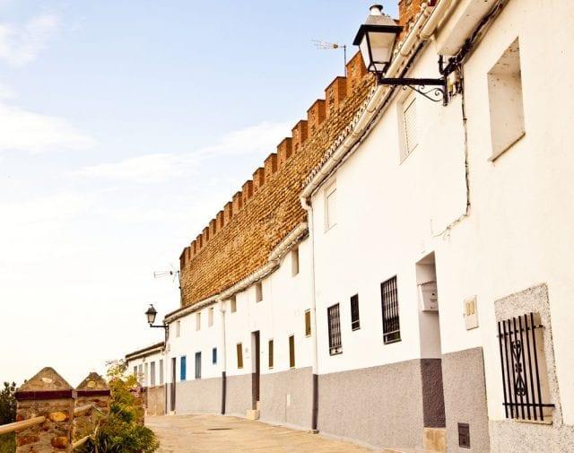 Detalle de la muralla exterior de Galisteo