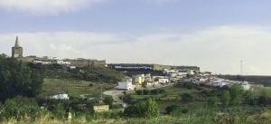 Vista de Galisteo desde la carretera