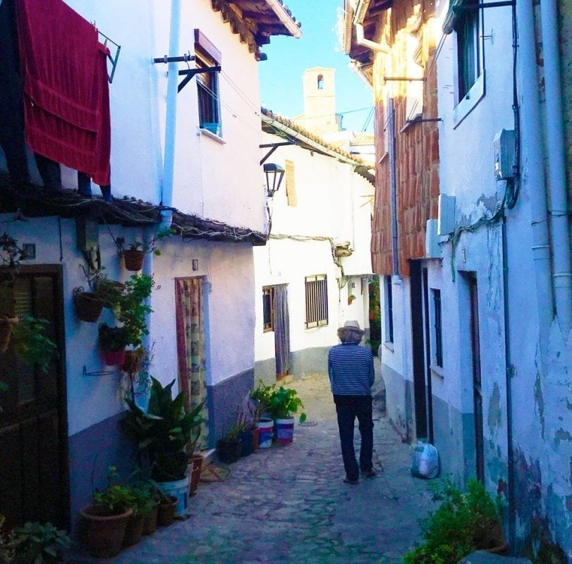 Calle del Rabilero, una de las más bonitas de Hervás
