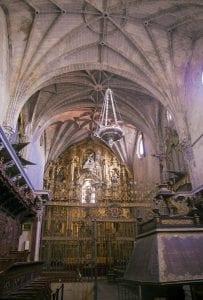 Vista del interior de la catedral de Coria