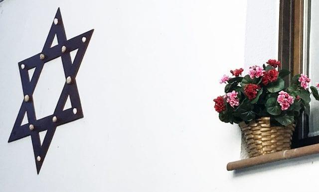 La estrella de David en una casa de Hervás