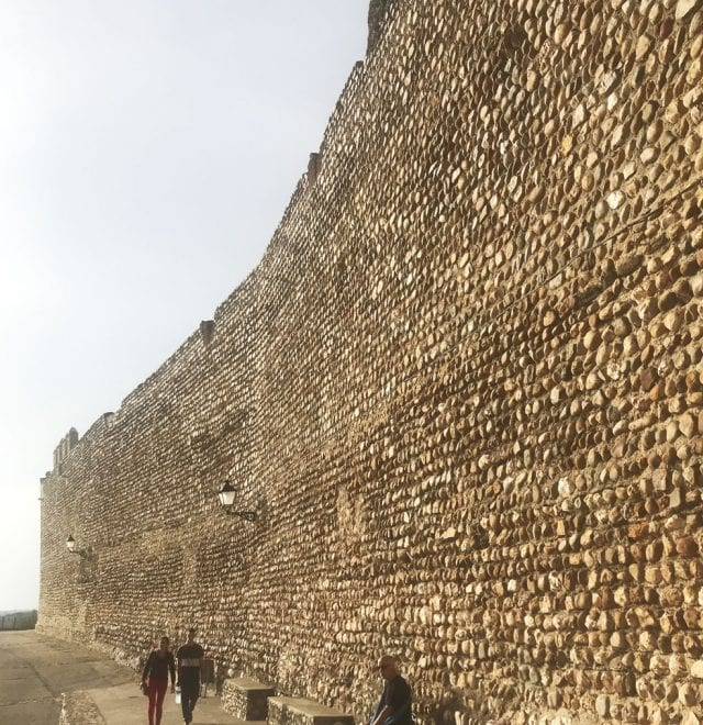Detalle de la muralla de Galisteo