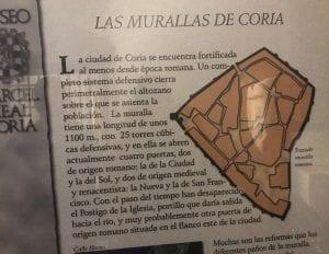 Información sobre las murallas de Coria