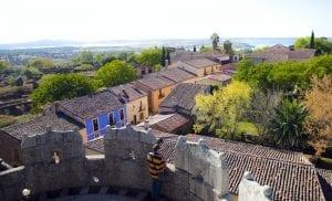 Panorámica de Granadilla desde la torre del castillo