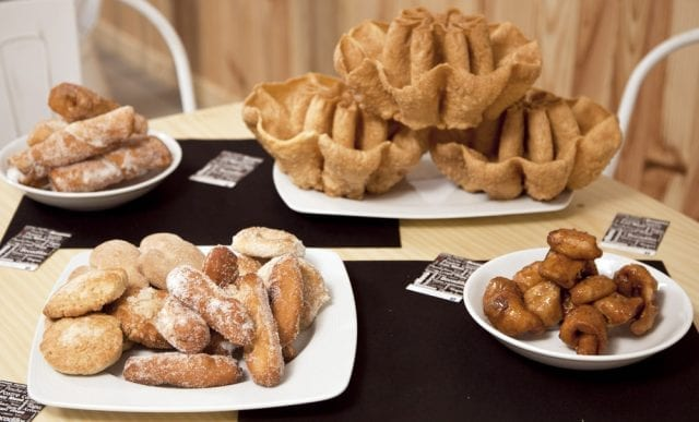 Selección de dulces típicos de Cáceres