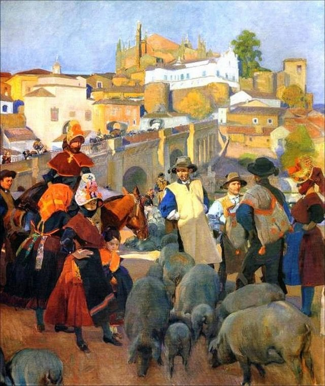 """""""El Mercado"""" de Joaquín Sorolla"""