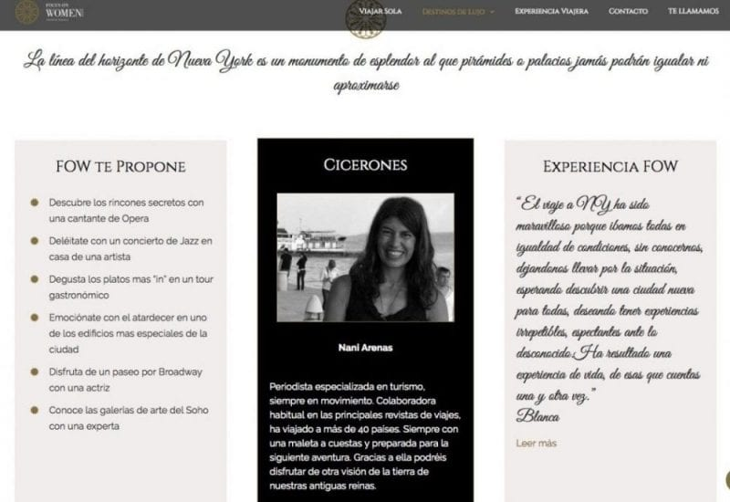 Nani Arenas, cicerone con Focus on Women