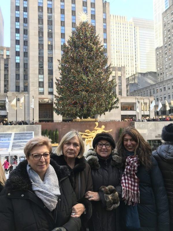 Grupo de mujeres viajeras en Nueva York