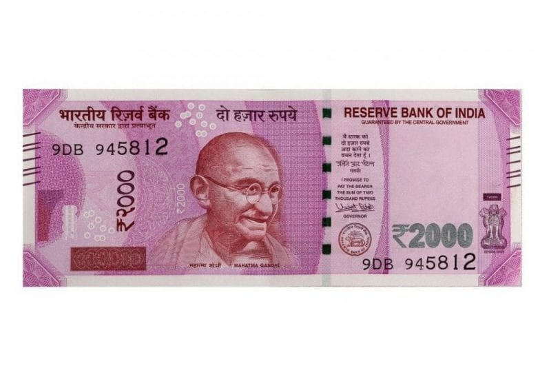Imagen de Gandhi en un billete de curso legal en La India